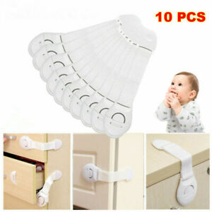 10x-Baby-Safety-Locks-Child-Cupboard-Cabinet-Drawer-Fridge-Door-Lock-Pets-Proof
