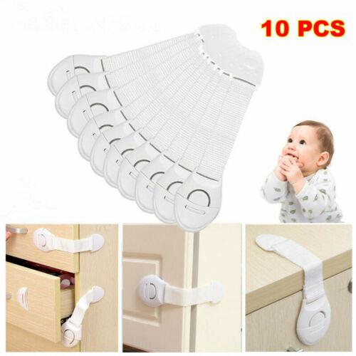 10x Baby Safety Locks Child Cupboard Cabinet Drawer Fridge Door Lock Pets Proof