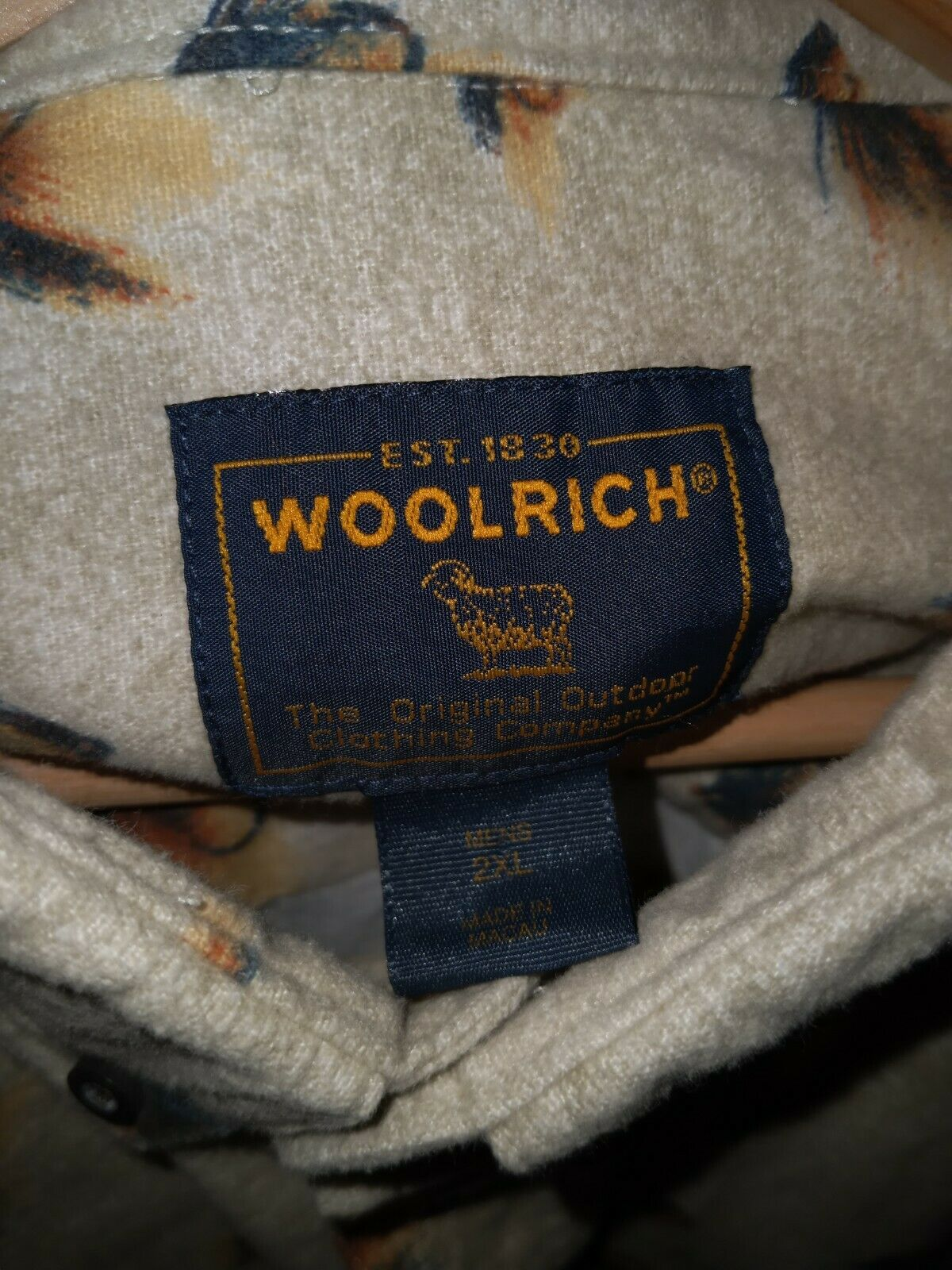 Authentic Vintage Mens Woolrich John Rich & Bros … - image 5
