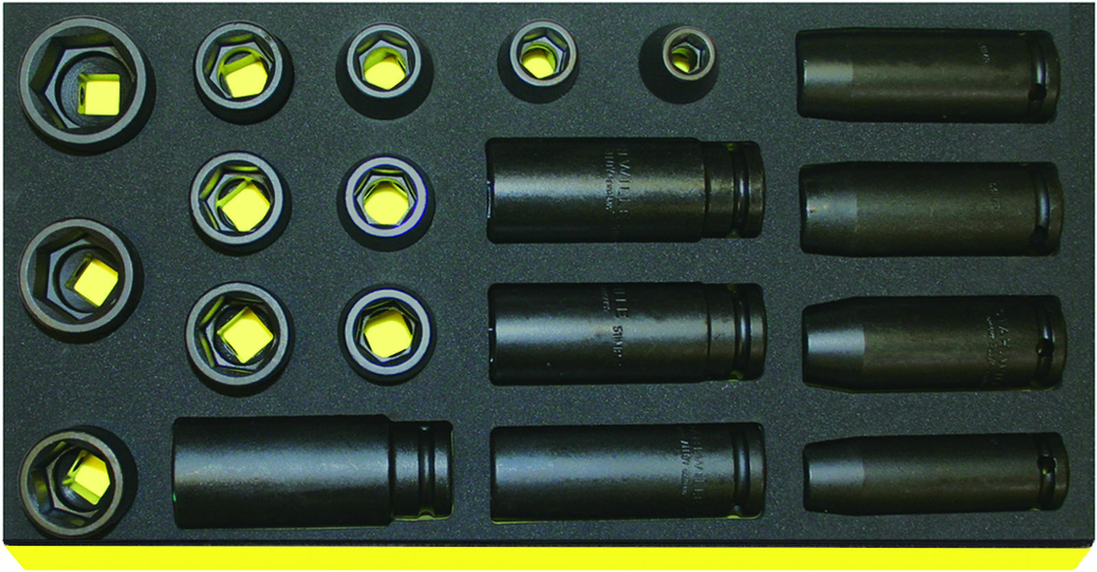 Stahlwille SET  SOCKETS 1 2  - EXTRA DEEP - 96838777 Set with  19 Psc. TCS 50IMP
