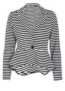 WOMENS-LADIES-LONG-SLEEVE-SLIM-FIT-PEPLUM-STRIPED-BLAZER-JACKET-PLUS-SIZE-8-26