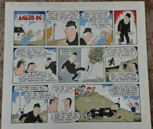 Angus Og Scottish cartoon, Ewen Bain original artwork