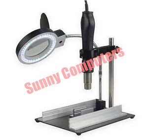 New-YIHUA-628TD-Hot-Air-Gun-Bracket-Fixture-Support-8X-Magnifier-With-LED-Lamp