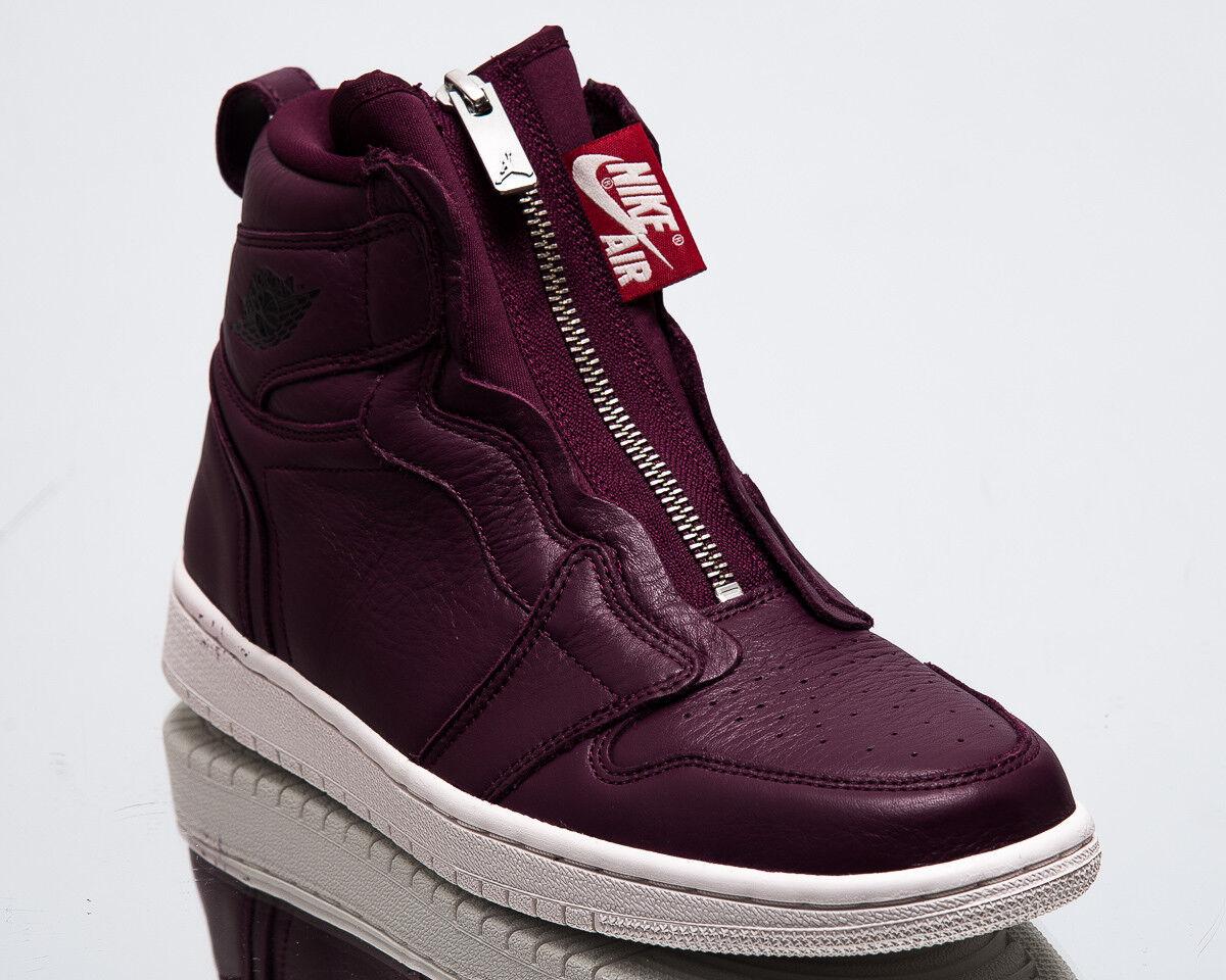 Air Jordan Wmns 1 High Zip Premium Women New Bordeaux Black Sneakers AT0575-600
