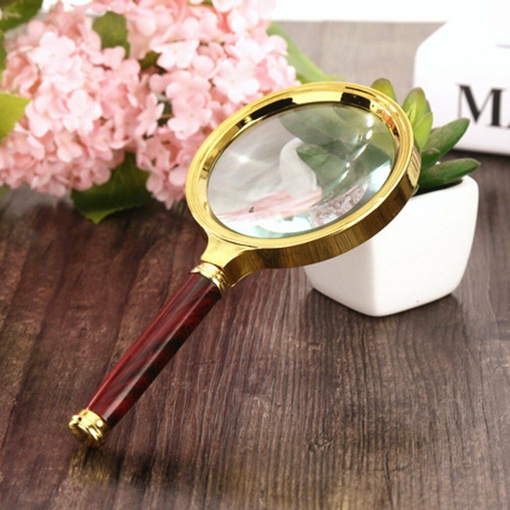 60//70//80MM 5X//10X Handheld Jewelry Magnifier Magnifying Glass Jewelry Loupe K*W/&