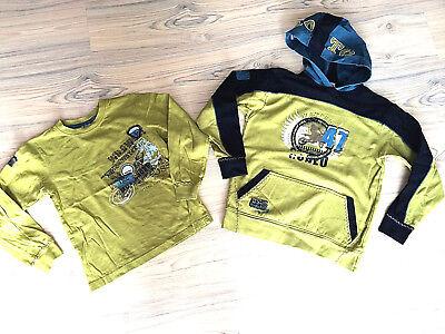 2 Pezzi Ding Dong Set Felpa 122/128 E 134/140 Hoodie Con Cappuccio Verde Top-mostra Il Titolo Originale Materiali Di Alta Qualità Al 100%