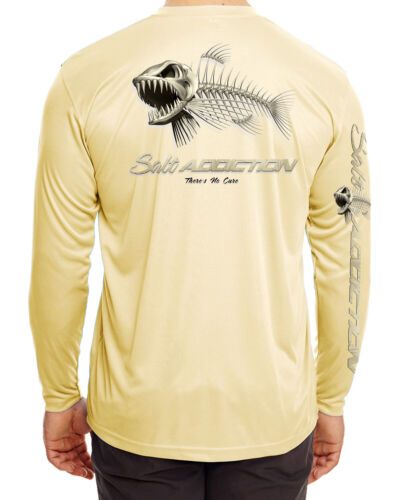 UV Salt Addiction t shirt Microfiber  Bones Poly fishing Moisture Wicking  30