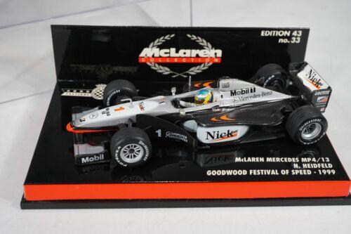 """Minichamps McLaren MP4//13 /""""Heidfeld/"""" Goodwood Speed Festival 1999 Scale 1:43"""