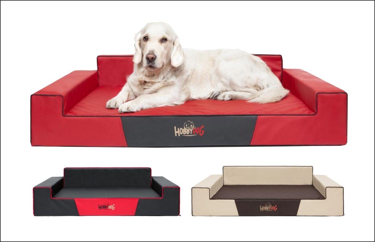 Luxury Dog Sofa Bed Glamour Faux Leather Elite Large XXL XL HobbyDog