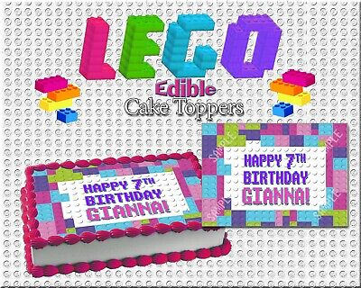 Lego girl Birthday Cake topper Edible paper sugar sheet frosting wafer picture