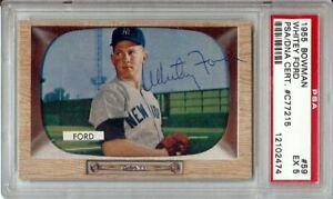 Whitey-Ford-1955-Bowman-Signed-Auto-Autograph-PSA-DNA-Slabbed-EX-5-59
