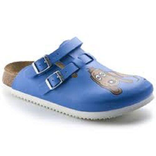 Birkenstock Classic Kay Birko flor Damen Clogs blau (dog Blue) 38 EU