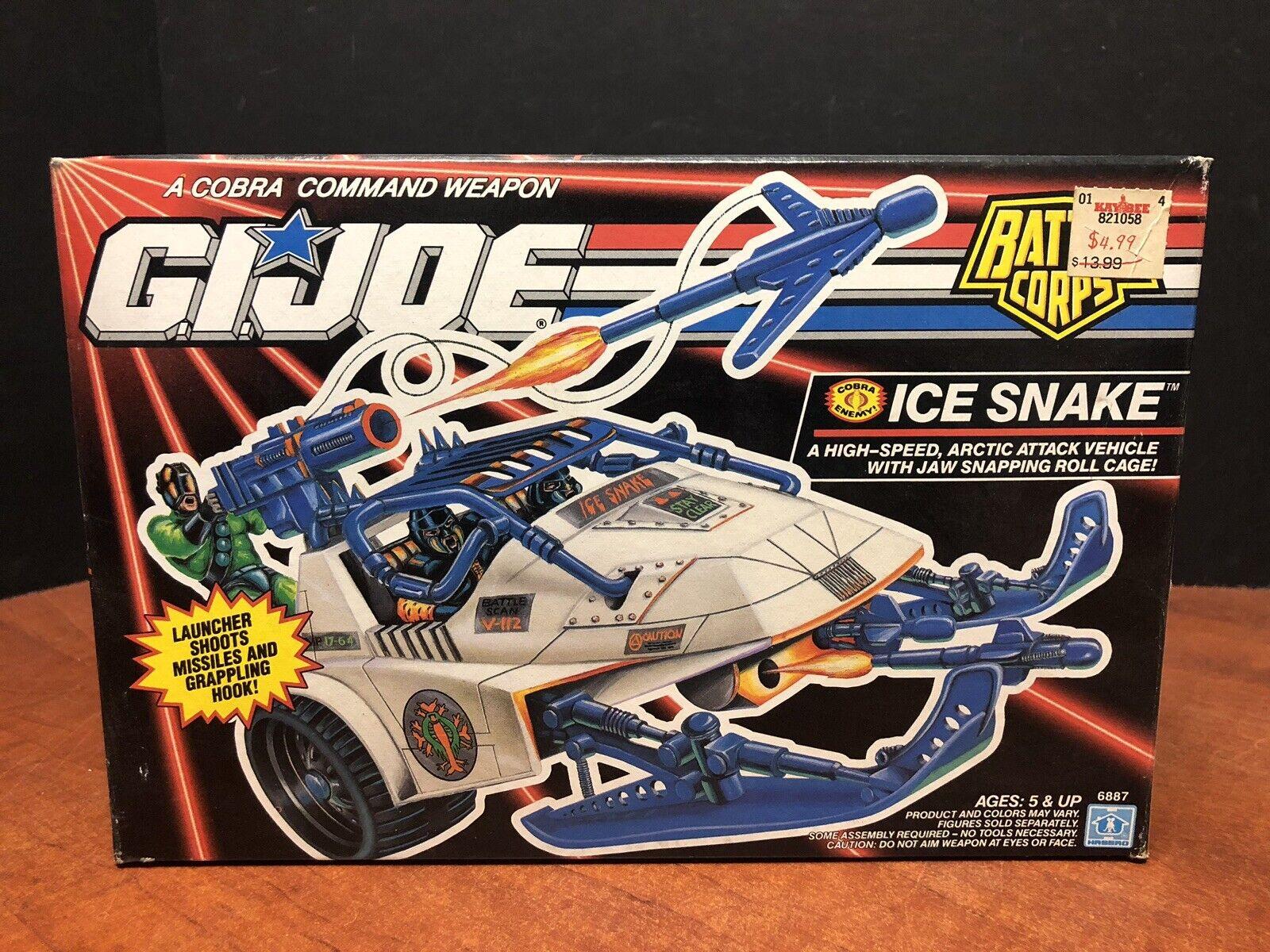 1993 GI Joe Ice Snake With Box Complete Unused Dela0452