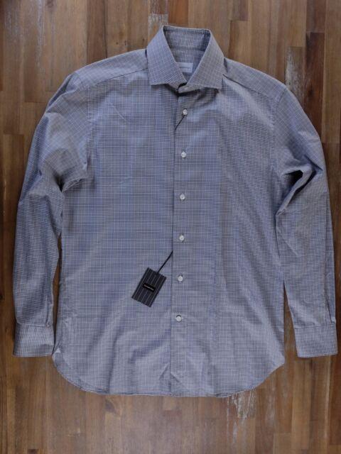 a9900277 Ermenegildo Zegna Shirt Regular Fit Plaid Gents Authentic Size 40 / 15.75