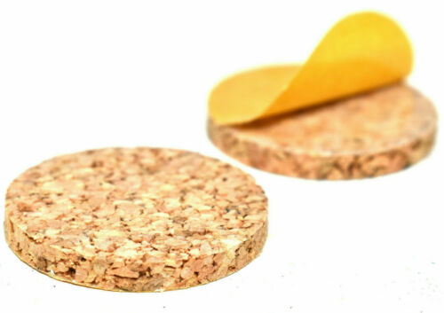 60 PIECE MIXED IN THE BAG SELF-ADHESIVE CORK DISCS 12mm 19mm 25mm FURNITURE PADS