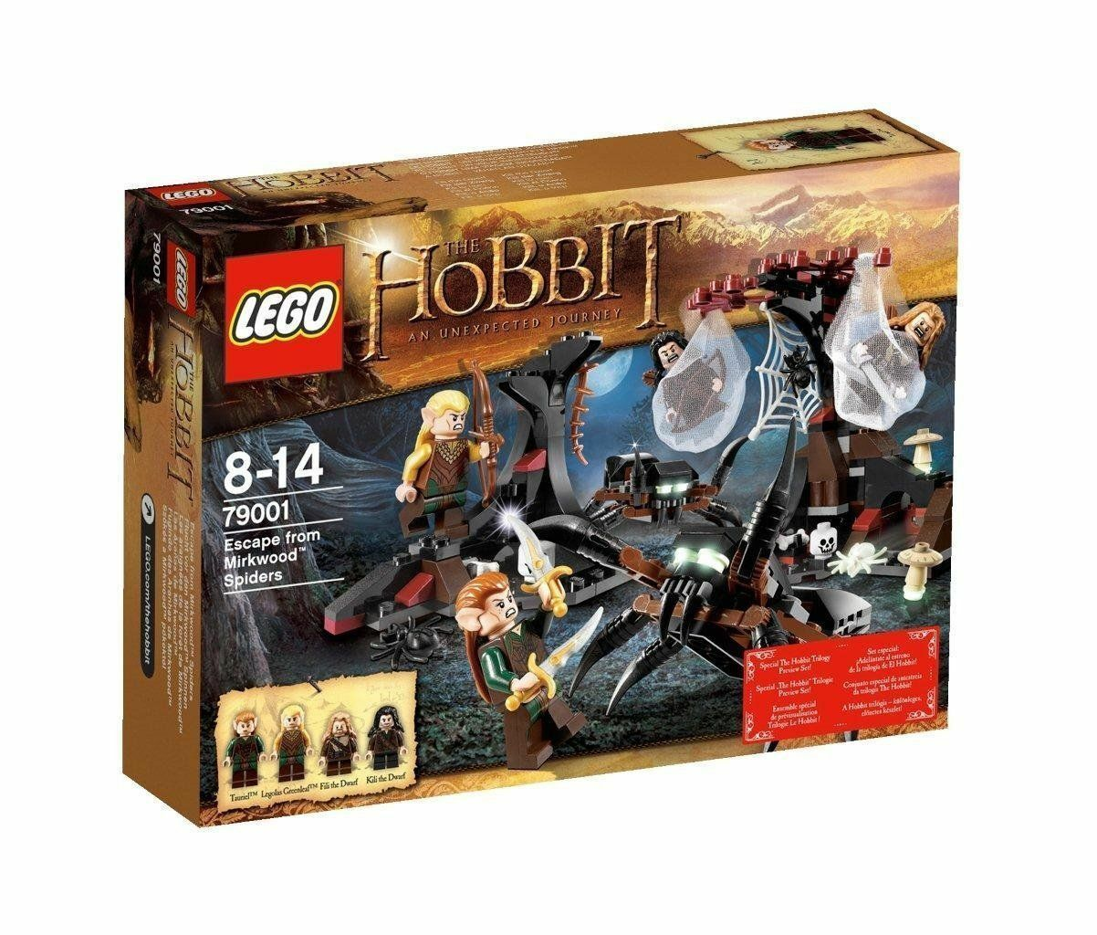 nuovo IN  scatola - LEGO The Hobbit  Escape from Mirkwood Spiders - 79001 298 pieces  tutti i prodotti ottengono fino al 34% di sconto