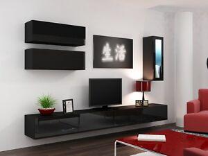 High Gloss Tv Cabinet Tv Wall Unit Tv Stand Viva 12