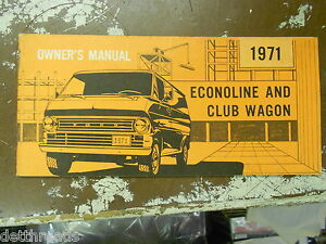 vintage econoline  club wagon owners manual