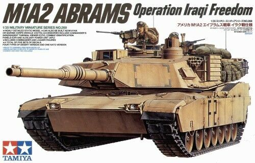 TAMIYA 1:35 KIT CARRO ARMATO M1A2 ABRAMS OPERATION IRAQI FREEDOM  ART 35269