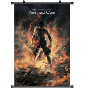 Anime One Piece Ace Poster Wall Scroll 3095