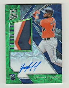 2020-Chronicles-SPECTRA-NEON-GREEN-PRIZM-AUTOGRAPH-PATCH-YORDAN-ALVAREZ-RC-19-25