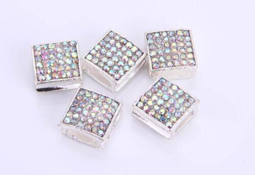 4 X Pave Cristal Strass Carrés Perles 4 Shamballa Friendship Bracelet Making