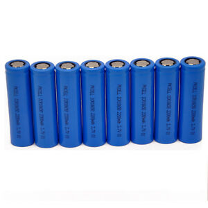 8pcs 18650 Rechargeable Vape Mod & Torch Li-ion 3.7V Flat Top 2200mAh Batteries
