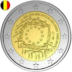 2 Euro commemorative BELGIQUE - BELGIEN - 30th Anniv Drapeau Flag