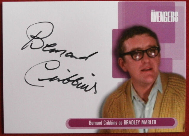 THE AVENGERS - Bernard Cribbins - Autograph Card - Strictly Ink, Series One A10