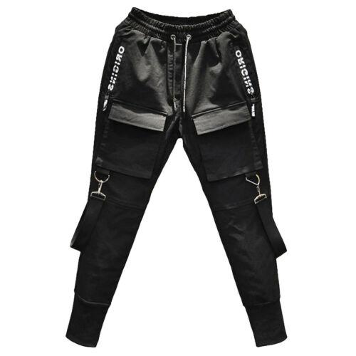 Techwear Men Big Pockets Casual Cargo Pants Fashion Hip-Hop Punk Harem Jogger GU