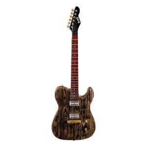Slick sl55 BA ❘ e-chitarra ❘ T-Style ❘ aged Body ❘ GF 'TRON pickup ❘ Black Ash