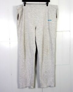 Détails sur Vintage 80s Adidas Gris Bruyère Pantalon Survêtement Cordon Bleu Trèfle Spellout