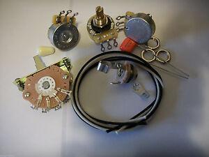 Blender-Wiring-Harness-Kit-For-Strat-CTS-Oak-Switchcraft-047uf-Orange-Drop