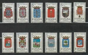 SPAIN-1963-MNH-COMPLETE-SET-SC-SCOTT-1057-68-PROVINCIAL-ARMS
