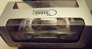 MERCEDES-CLK-GTR-2-gris-MOBIL-au-1-43-MAISTO-voiture-miniature-collection