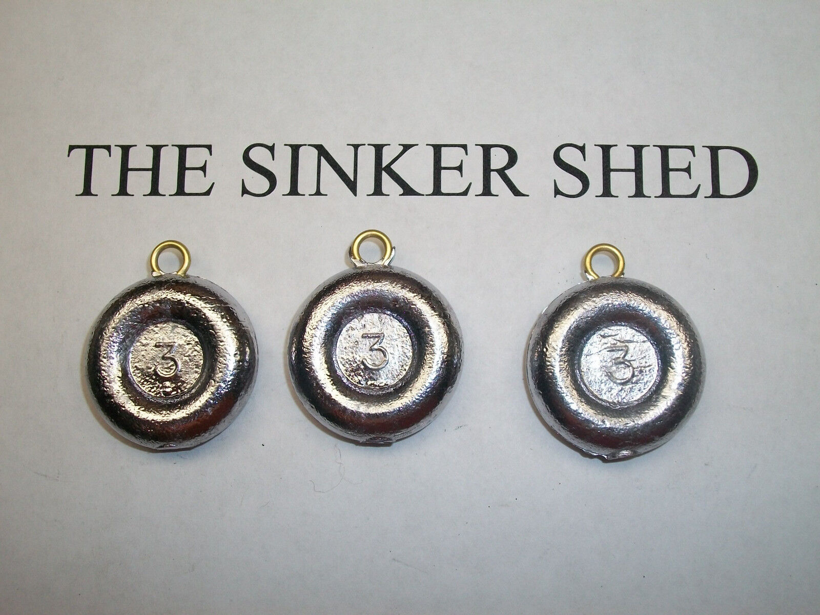 3 oz river coin sinkers - quantity of 12 25 50 100 FREE SHIPPING