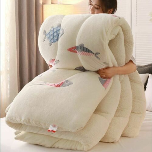 Super Warm Lamb Blanket Quilt Winter Double Velvet Quilt Thickened Warm Plush