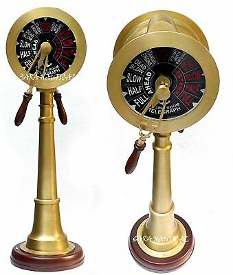 Nautical Brass 37/'/' Telegraph Ship Engine Room Vintage Antique Style Gifted Item