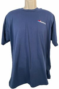 Vintage Best Fruit Of The Loom Amoco T Shirt Size XL Gas Station Attendant Blue