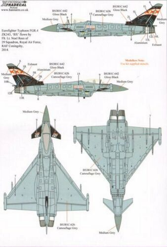 NEW Xtradecal X32056 1:32 BAe Eurofighter Typhoon FGR.4 Special Schemes