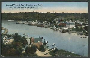 Kingston-NY-c-1910s-Postcard-GENERAL-VIEW-OF-SOUTH-RONDOUT-CREEK-FROM-COMMONS