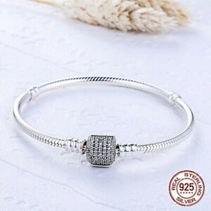 100-pure-925-Sterling-Silver-Snake-Charm-Bracelet-pandora-a-special-offer-toda