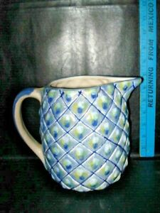 Vintage-Louisville-Pottery-Pineapple-Pitcher-Stoneware-RARE