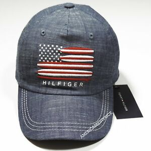 Details about TOMMY HILFIGER NEW YOUTH KID BASEBALL CAP HAT DENIM BLUE NWT  SIZE 4-7 STRAP a53e8eadebbf