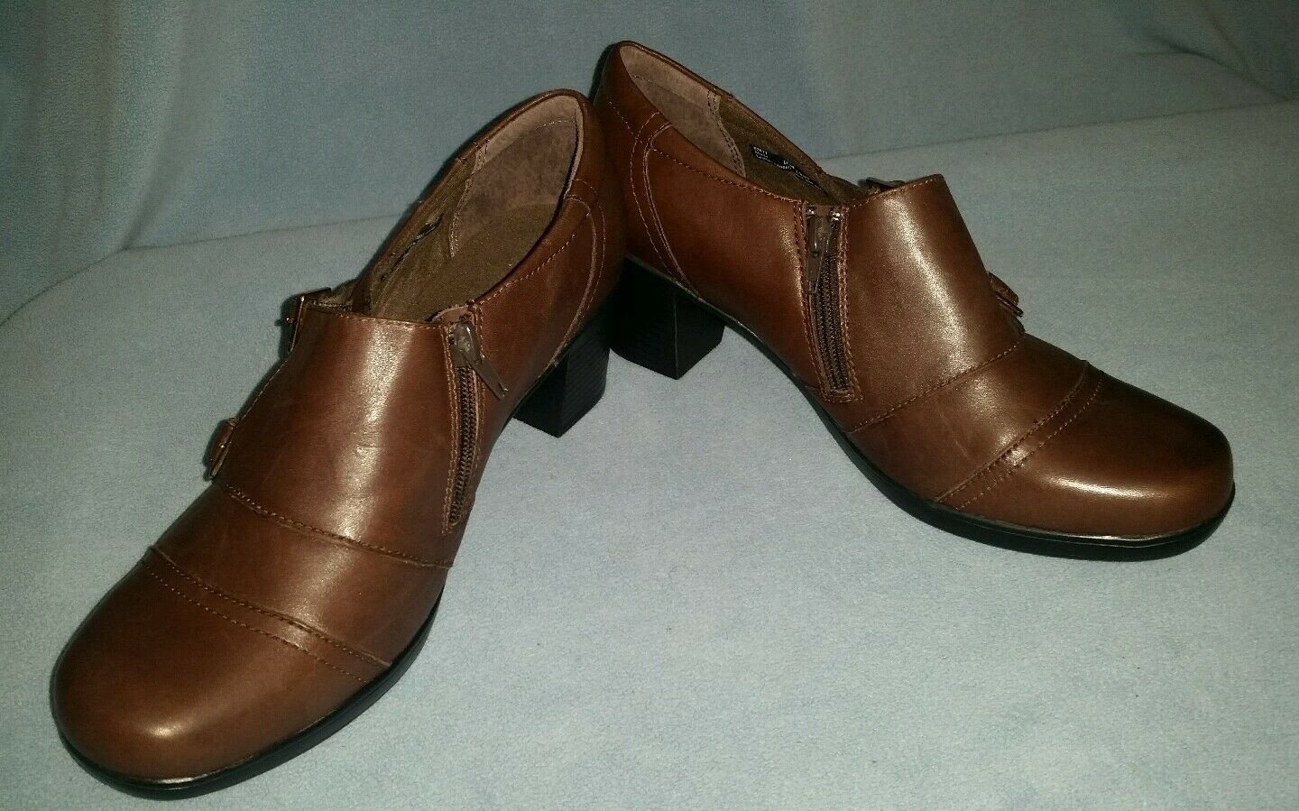 Clarks Bendables Brown Ankle Boot Bootie Shootie Size 10