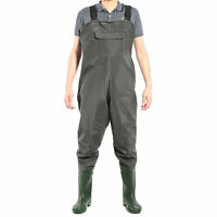 Green Pvc Chest Waders 100% Waterproof Fly Coarse Fishing Muck Wader