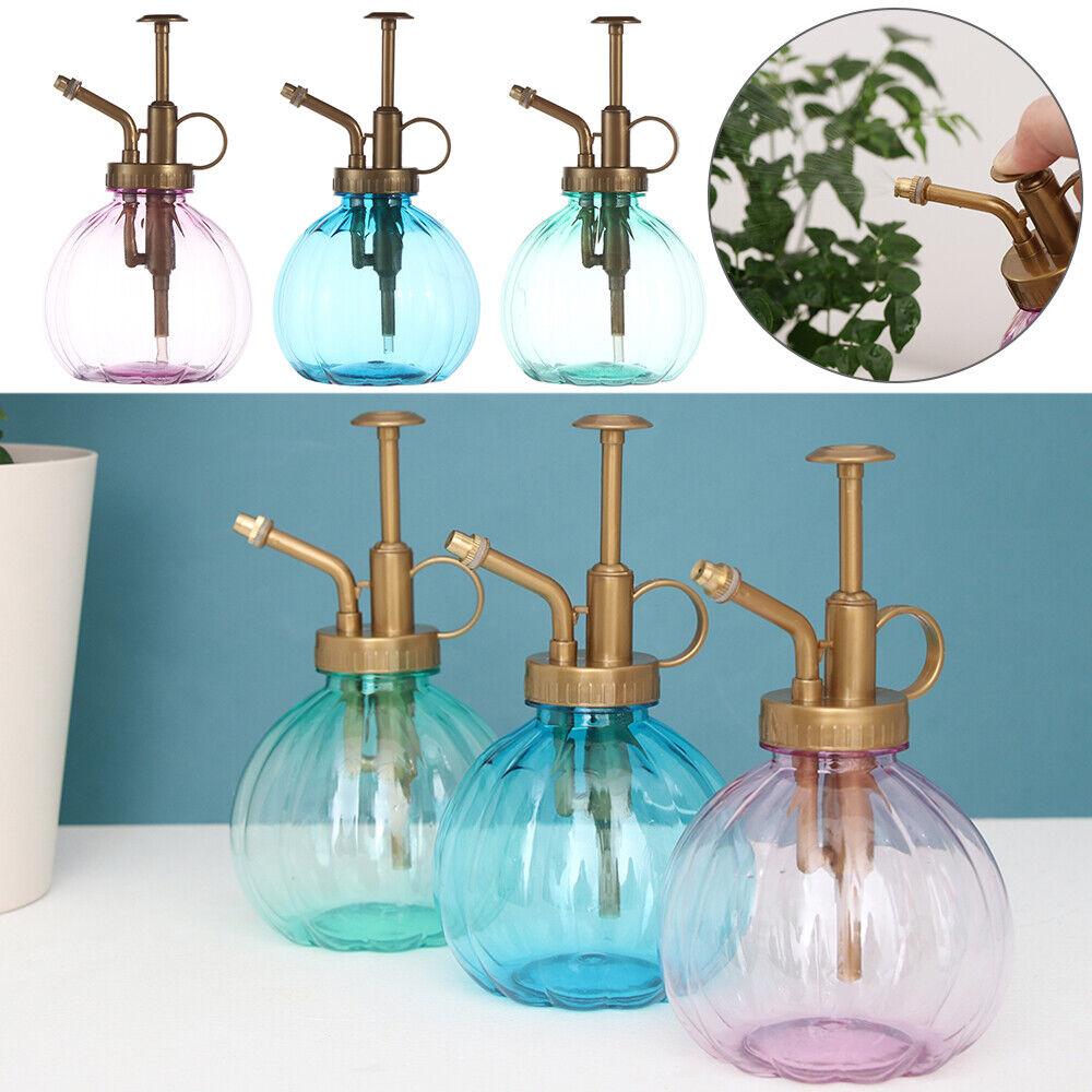 Retro Watering Spray Bottle Pump Fine Mist Gardening Tool Water Sprayer