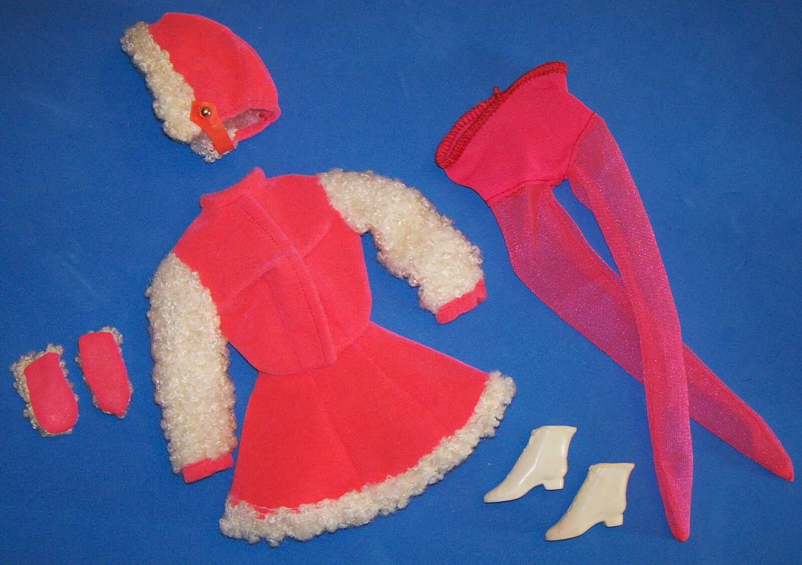 Vintage Barbie Ghiaccio Mates  1793 & Guanti Cappello Collant Pattini 1970-71
