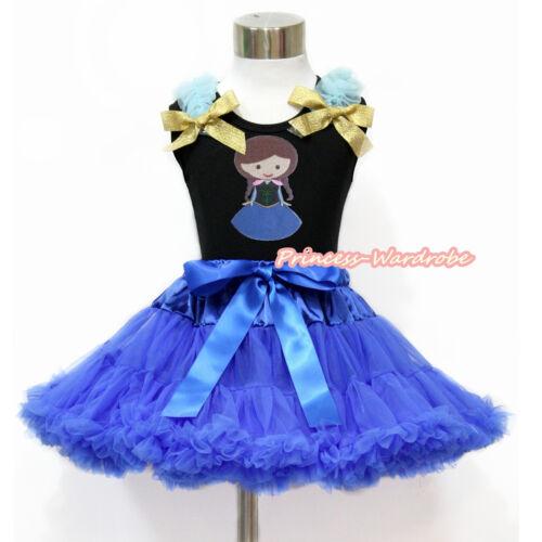 Royal Blue Pettiskirt Skirt Royal Blue Ruffle Top 1-8Y