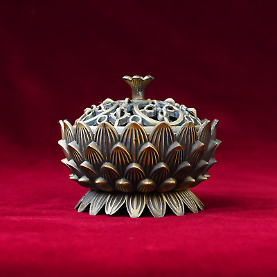 Knowledgeable Clase Fumador Sólido Fumar Caja Para Buddhistischen Altar Latón Online Shop Asian Antiques Antiques